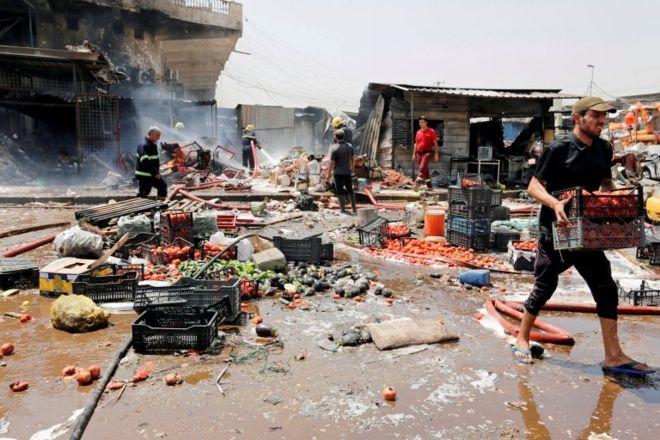 Bağdat'ta pazar yerine IŞİD saldırısı: 8 ölü, 25 yaralı