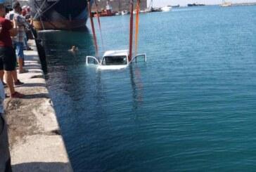 Araç denize düştü
