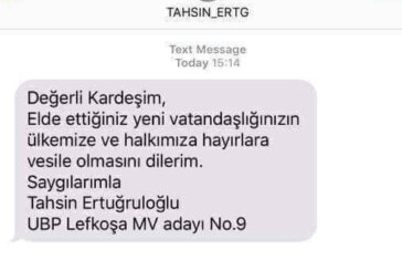 Ertuğruloğlu'ndan aday numaralı SMS