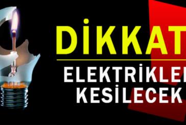 Mesarya bölgesinde yarın elektirik yok