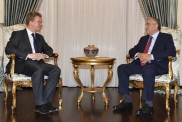 Cumhurbaşkanı Akıncı, İngiliz Yüksek Komiseri'ni kabul etti
