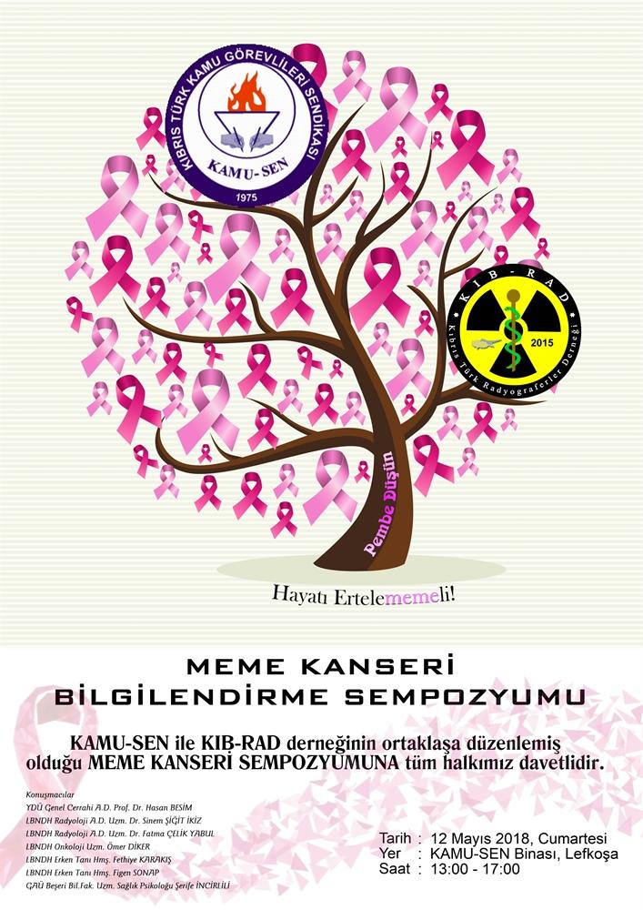 Meme kanseriyle ilgili bilgilendirme sempozyumu düzenleniyor