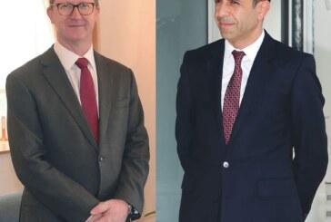 Özersay, İngiliz Yüksek Komiseri'ni kabul ederek görüştü
