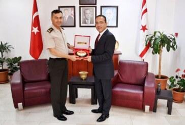 KTBK Komutanı Yıldırım, Bakan Şahali'yi ziyaret etti