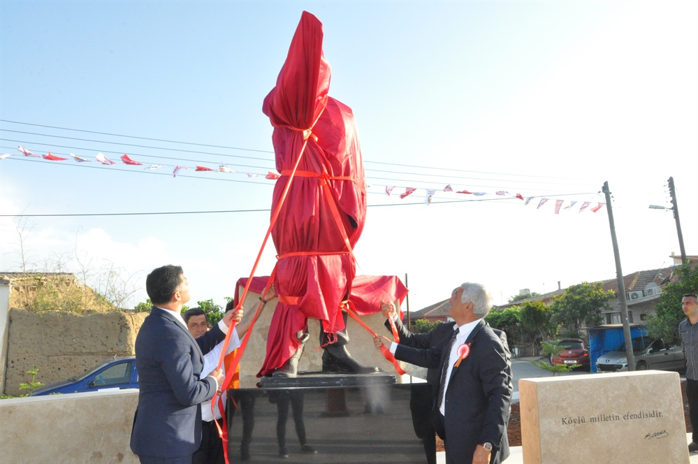 Yayla köyündeki Atatürk Heykeli yenilendi