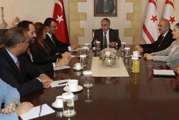 Akıncı, CTP Kıbrıs Çalışma Grubu'nu oluşturan milletvekillerini kabul etti