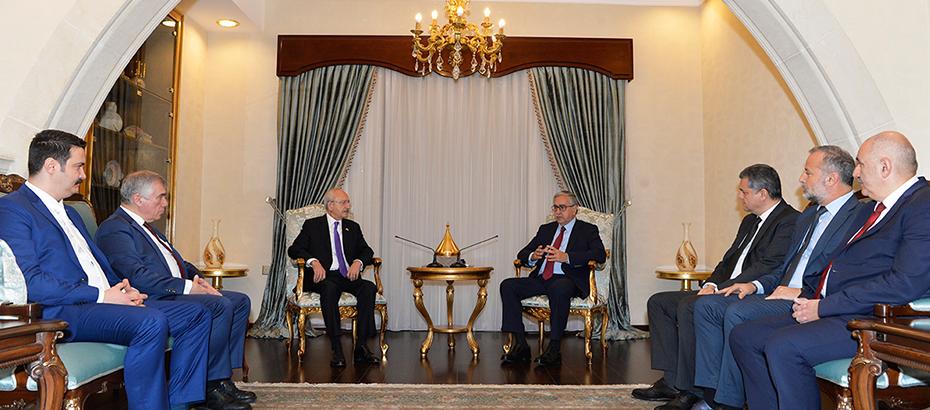 Akıncı CHP Genel Başkanı Kılıçdaroğlu'nu kabul etti