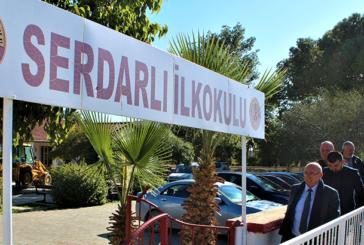 Yıldırım düşen Serdarlı İlkokulu çarşamba günü eğitime hazır hale getirilecek