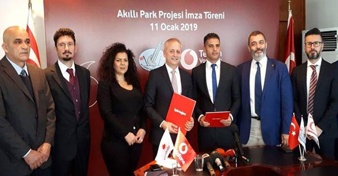 Alsancak Belediyesi ile Telsim Vodafome arasında, protokol imzalandı