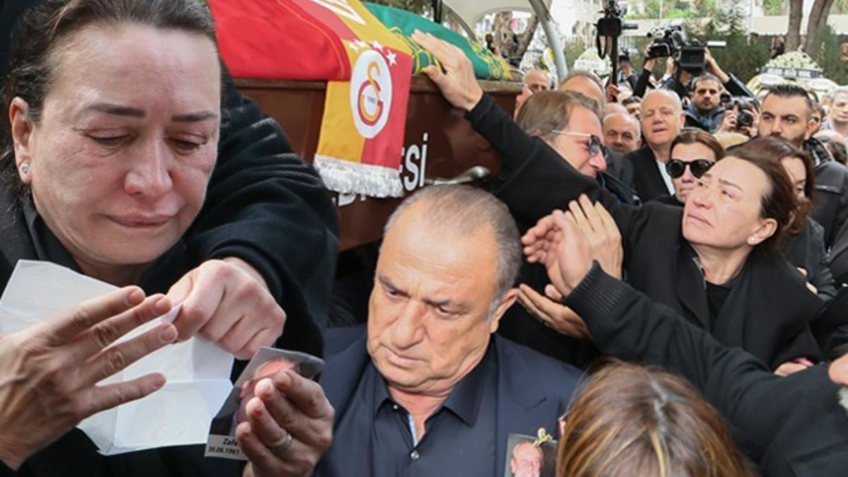 """""""Hakkım helal olsun Zafer"""" Demet Akbağ eşini son yolculuğuna uğurladı"""