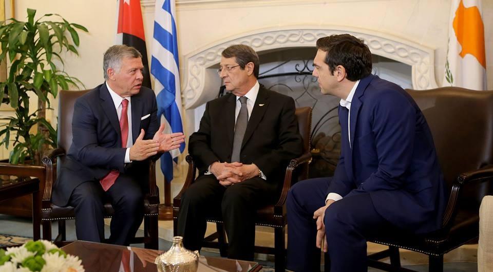 Ürdün, Yunanistan ve Kıbrıs Rum Kesimi liderleri üçlü zirvede bir araya geldi