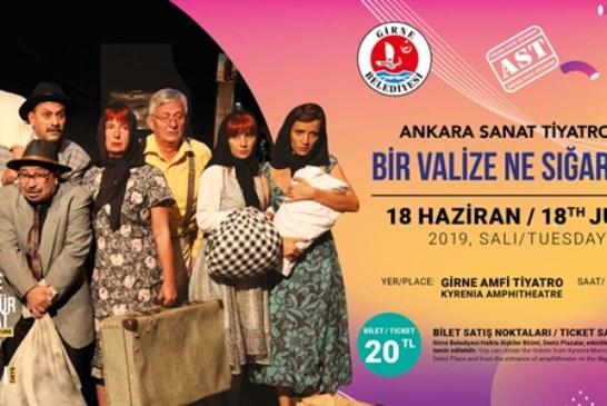 """9. Girne Kültür Sanat Günleri,""""Bir Valize Ne Sığar Ki"""" isimli tiyatro oyunuyla başlıyor"""