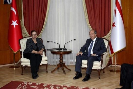 Başbakan Ersin Tatar, Yüksek Mahkeme Başkanı Şefik ve Yüksek Adliye Kurulu Üyeleri'ni kabul etti