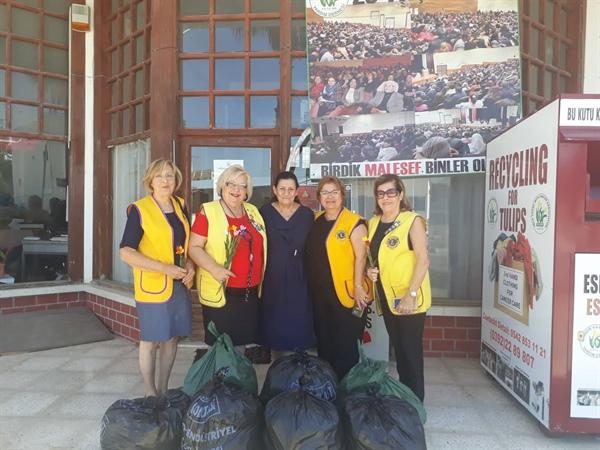 Girne Ada Lions Kulübü'nden Kanser Hastalarına Yardım Derneği'ne bağış