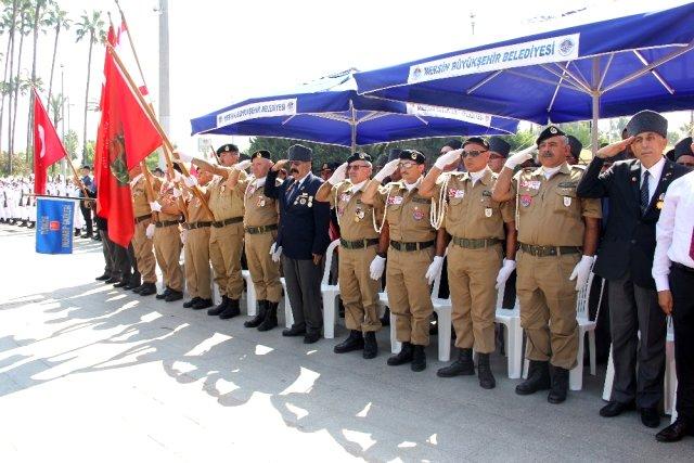 Kıbrıs Barış Harekatı'nın 45. yıl dönümü dolayısıyla Mersin'de tören düzenlendi