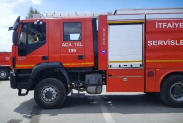 Gazimağusa'da, Çanakkale Göleti bölgesinde  yangın