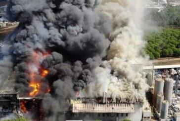 İstanbul Tuzla'da bir kimya fabrikasında yangın