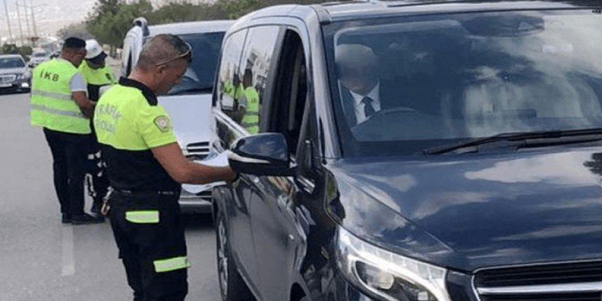 Lefkoşa'da denetimler sonucu, 700 araç kontrol edildi