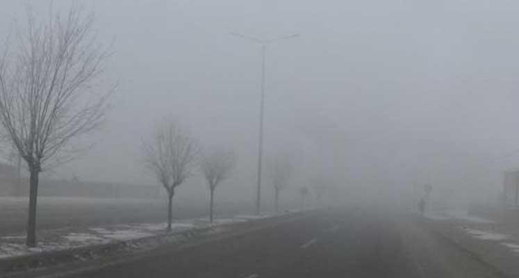 Bu sabah yine yoğun sis var
