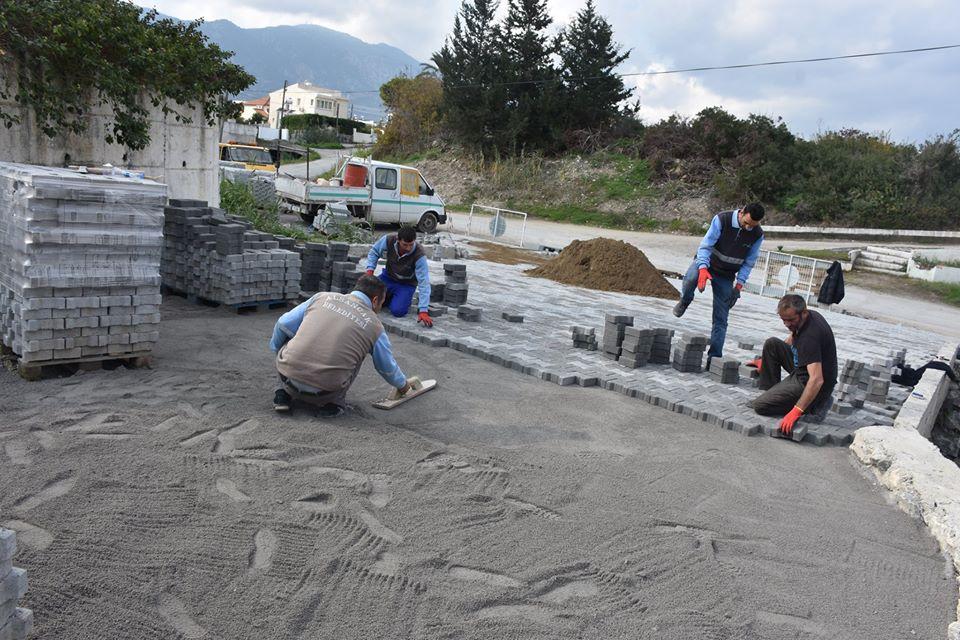 Alsancak'ta Yiğit ve Zephiros Sokak'taki yol çalışmalarında sona gelindi