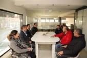 Erhürman, Lefkoşa'da iş yerleri ve üretim tesislerini gezdi