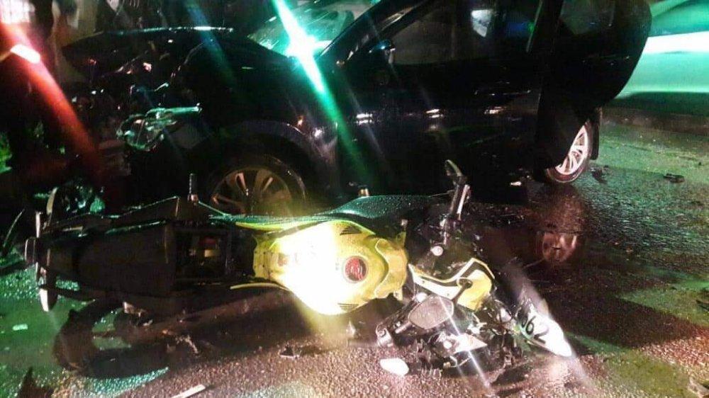 Girne – Alsancak yolunda korkutan kaza