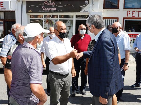 Cumhurbaşkanı Mustafa Akıncı, Lefke'yi ziyaret ederek yurttaşlarla bir araya geldi