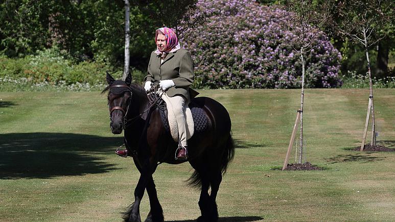 94 yaşındaki Kraliçe 70 gün sonra at üstünde görüntülendi