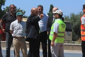 Bakan Atakan bugün başlayan Girne batı çevreyolu 1.etap çalışmalarında incelemelerde bulundu