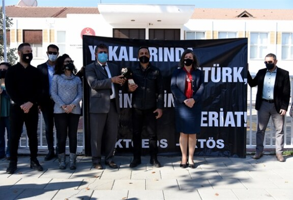 KTÖS ve KTOEÖS'ten meclis önünde eylem