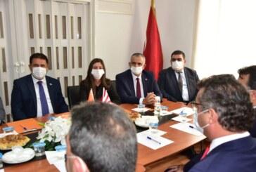 Erhürman ilk ziyaretini UBP'ye yaptı