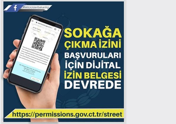 Sokağa çıkma izin başvuruları için dijital izin belgesi devreye girdi