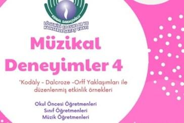 """Kemal Saraçoğlu Lösemili Çocuklar ve Kanserle Savaş Vakfı yararına Perşembe günü """"Müzikal Deneyimler 4"""" adlı etkinlik düzenlenecek"""