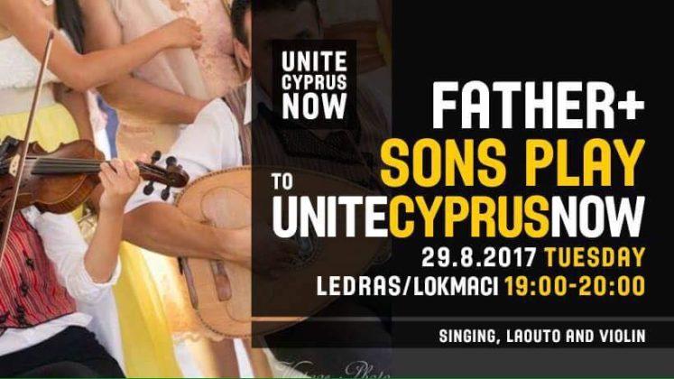 """Baba-oğul """"Garantiler"""" UniteCyprusNow için çalacak"""
