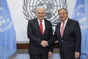Yıldırım-Guterres Kıbrıs'ı da konuştu