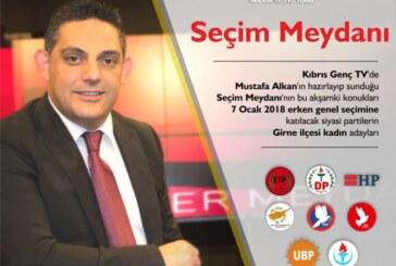Girne'nin kadın adayları Seçim Meydanı'nda