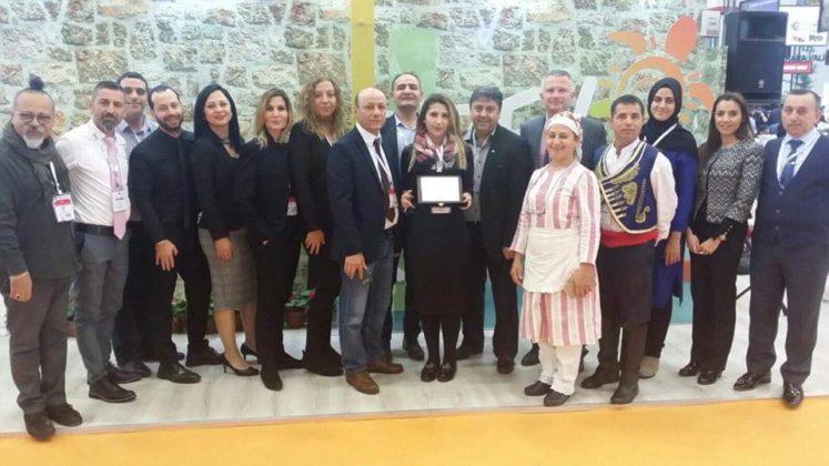 İstanbul'daki fuarda Kuzey Kıbrıs standına birincilik ödülü