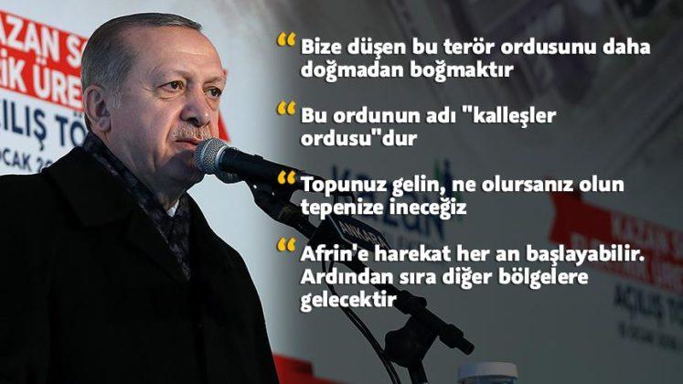 Erdoğan sert konuştu: