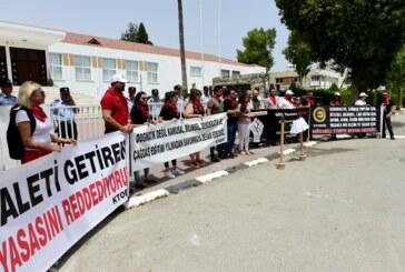 Sendika Meclis önünde eylem yaptı