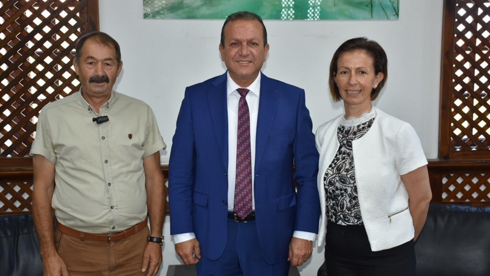 Ataoğlu,Altan ve Komili'yi kabul etti