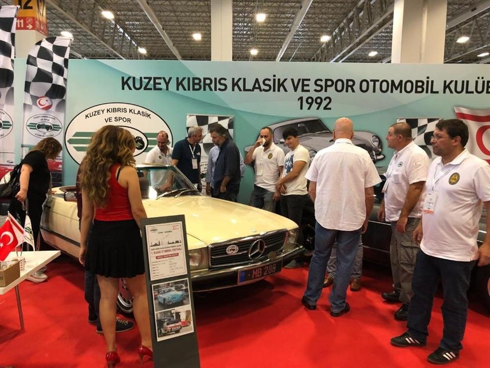 Kuzey Kıbrıs Klasik ve Spor Otomobil Kulübü İstanbul'daki festivale katıldı