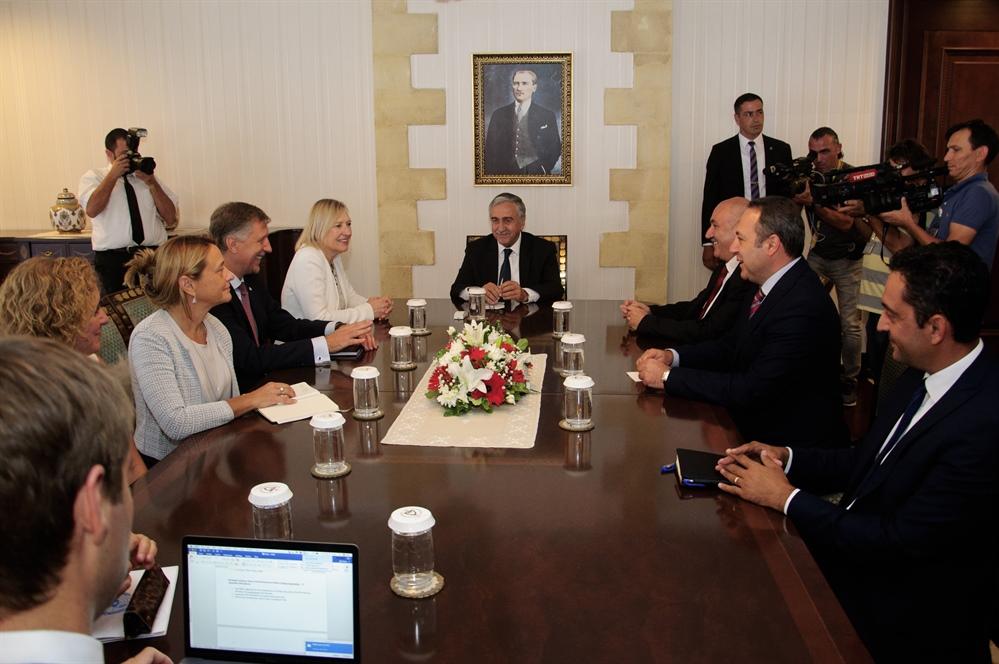 Akıncı BM Genel Sekreteri'nin Kıbrıs Özel Temsilcisi Spehar'I kabul etti