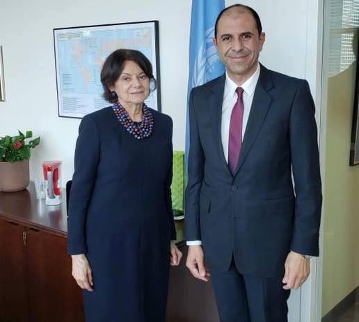 Özersay, BM Genel Sekreter Yardımcısı Dicarlo ile görüştü