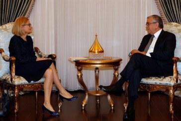 Akıncı Polonya'nın Lefkoşa büyükelçisi'ni kabul etti