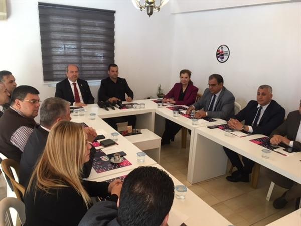 Ulusal Birlik Partisi, Eşit Hak ve Adalet Sendikası'nı  ziyaret etti
