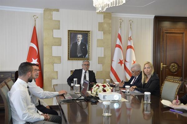 Dere yataklarındaki sıkıntılarla ilgili Cumhurbaşkanı Mustafa Akıncı'ya sunum yapıldı