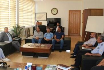 İsmail Arter, belediyede örgütlü Mağusa Türk Genel İş Sendikası yönetimiyle görüştü