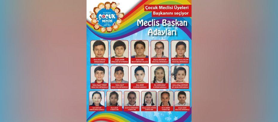 Girne Belediyesi Çocuk Meclisi başkan seçimi için sandığa gidiyor