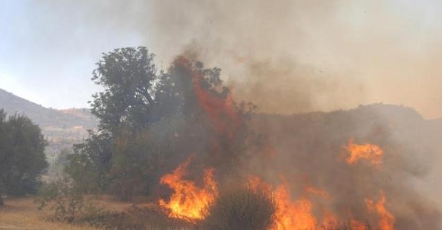 Yıldırım köyünde yangın.... Yüzlerce balya kül oldu!