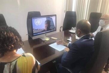 Kudret Özersay, BM Genel Sekreter Yardımcısı Lacroix ile görüştü
